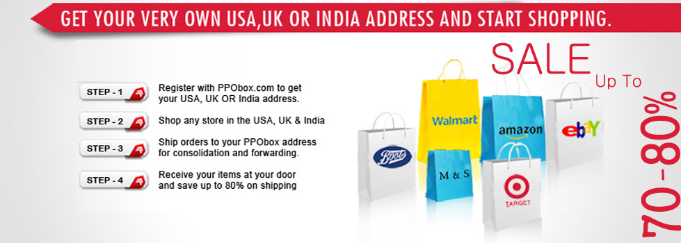 Ship ypur parcel from the USA to India